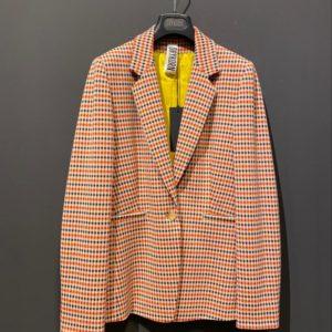 Drykorn Blazer für Damen in rot-gelbem Pepita Muster