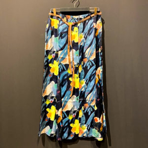POM Amsterdam Midi Rock - Flower Play Blue