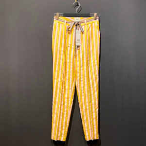Damenhose von POM Amsterdam - Stripes Candy in gelb