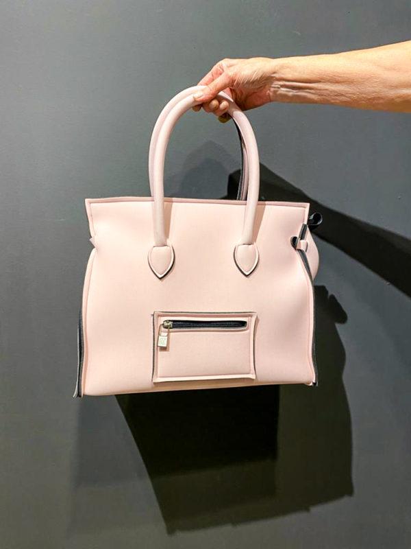 Save My Bag Tasche in rose ähnlich wie Celine aus Neopren