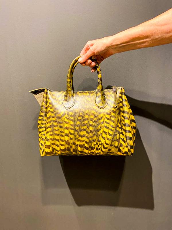 GUM Mini Tasche in Gelb mit Leopardenmuster