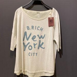Better Rich T-Shirt für Damen mit New York Druck in hellblau