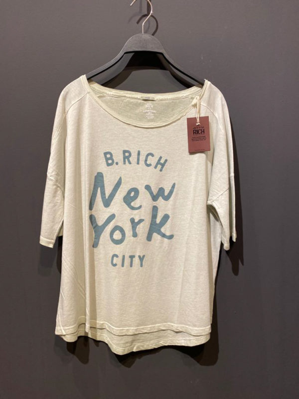 Better Rich T-Shirt für Damen mit New York Druck in hellblau