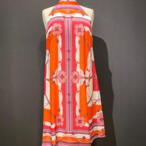 Ana Alcazar kurzes Sommer Kleid im Etno Boho Look in Orange Pink