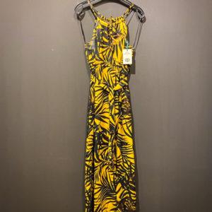 Langes Sommerkleid von Ana Alcazar in gelb schwarz