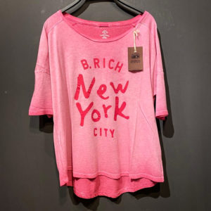 Better Rich T-Shirt Damen - New York in pink verwaschen