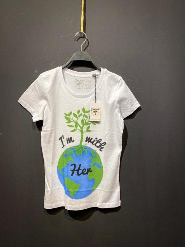 T-Shirt von Sunny für Damen mit Aufdruck