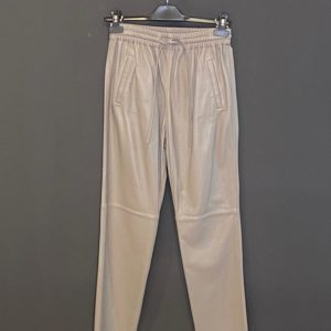 Oakwood Leder-Pant für Damen in Taupe feinstes Lamm-Nappa