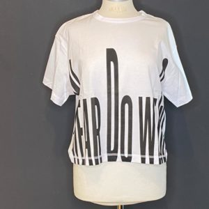 Drykorn 1/2 Arm Shirt Damen Weiß/Black