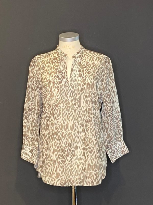 Better Rich Bluse - New York 3/4 Arm Damen 50% Cotton / 50% Rayon in Taupe