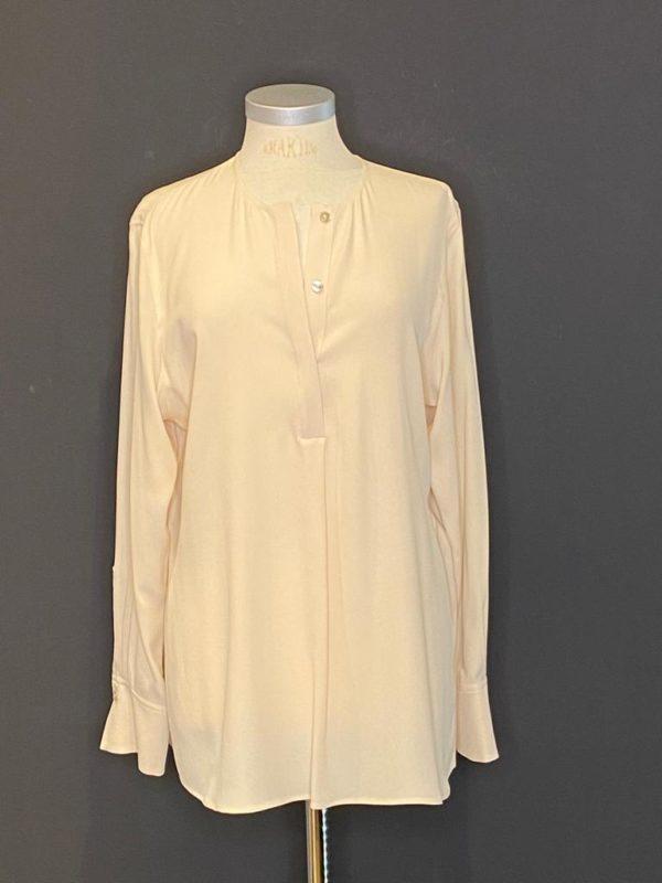 Drykorn Bluse Damen Lang Arm cooler Schnitt 31% Seide - 69% Acetat in Vanille