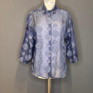 Pom Coole Bluse für Damen Dark Navy