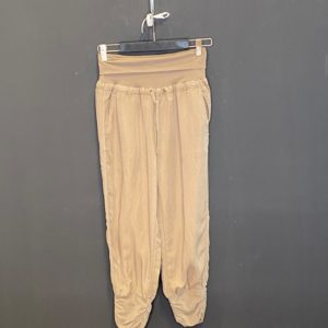 Cream Jog-Pant Jersey 7/8 Pant mit Zug an der Wade Farbe Kaki