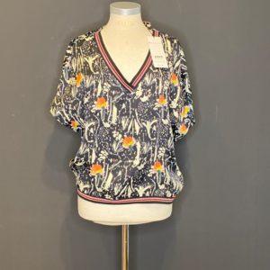 Pom-Amsterdam 1/2 Arm Bluse für Damen 100% Viscose