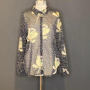Pom Amsterdam Black-Bluse für Damen 100%Poly sehr Luftig