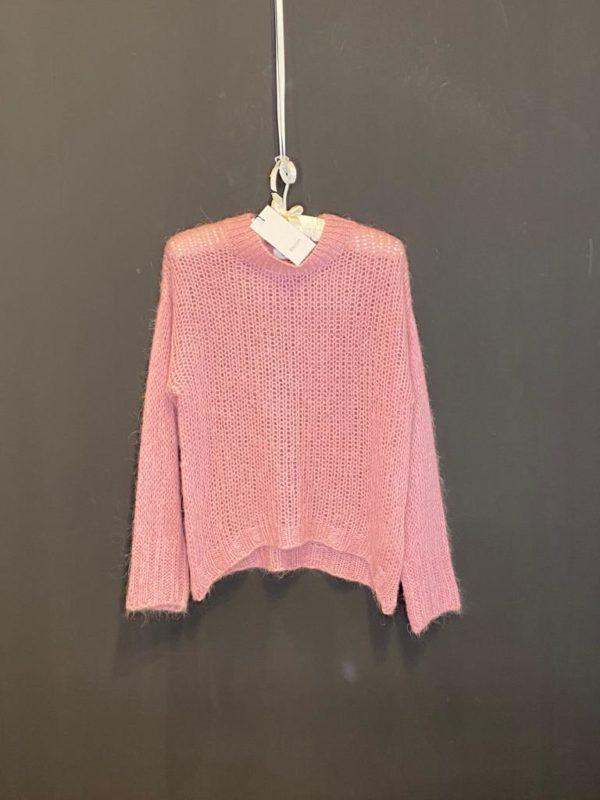 Bloom Super Pullover in Pink Rose Locker gestrickt